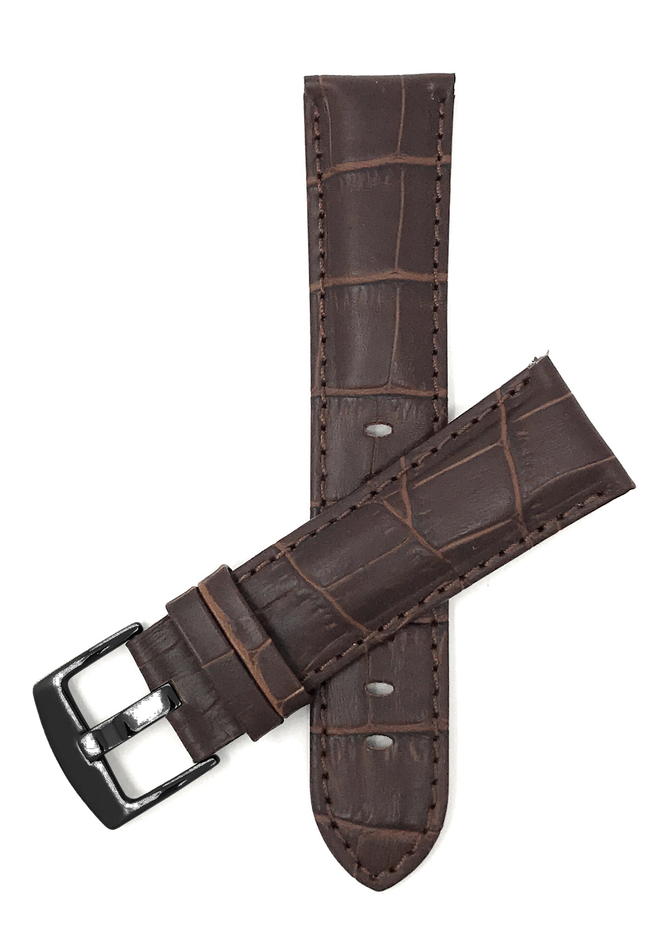 Bandini-Mens-Watch-Band-Alligator-Style-Leather-Strap-18mm-26mm-15-Colors thumbnail 12