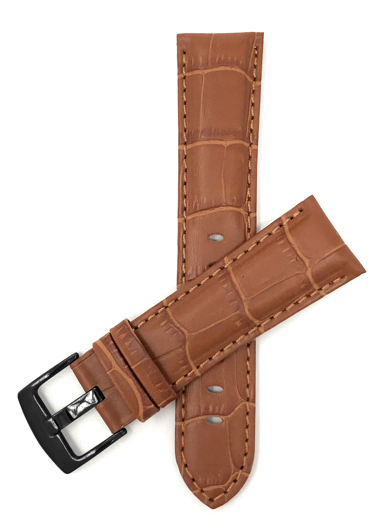 Bandini-Mens-Watch-Band-Alligator-Style-Leather-Strap-18mm-26mm-15-Colors thumbnail 42