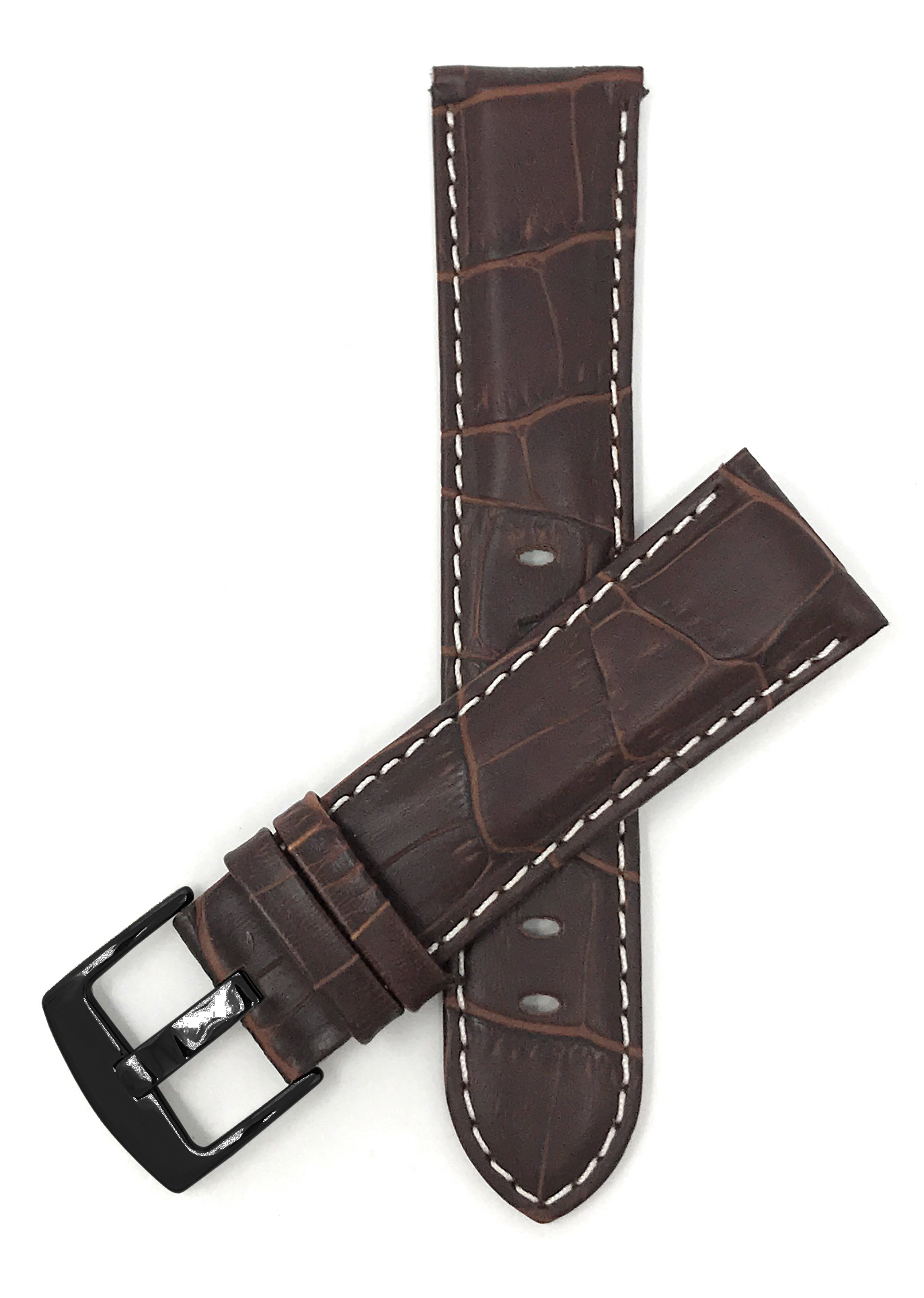 Bandini-Mens-Watch-Band-Alligator-Style-Leather-Strap-18mm-26mm-15-Colors thumbnail 60