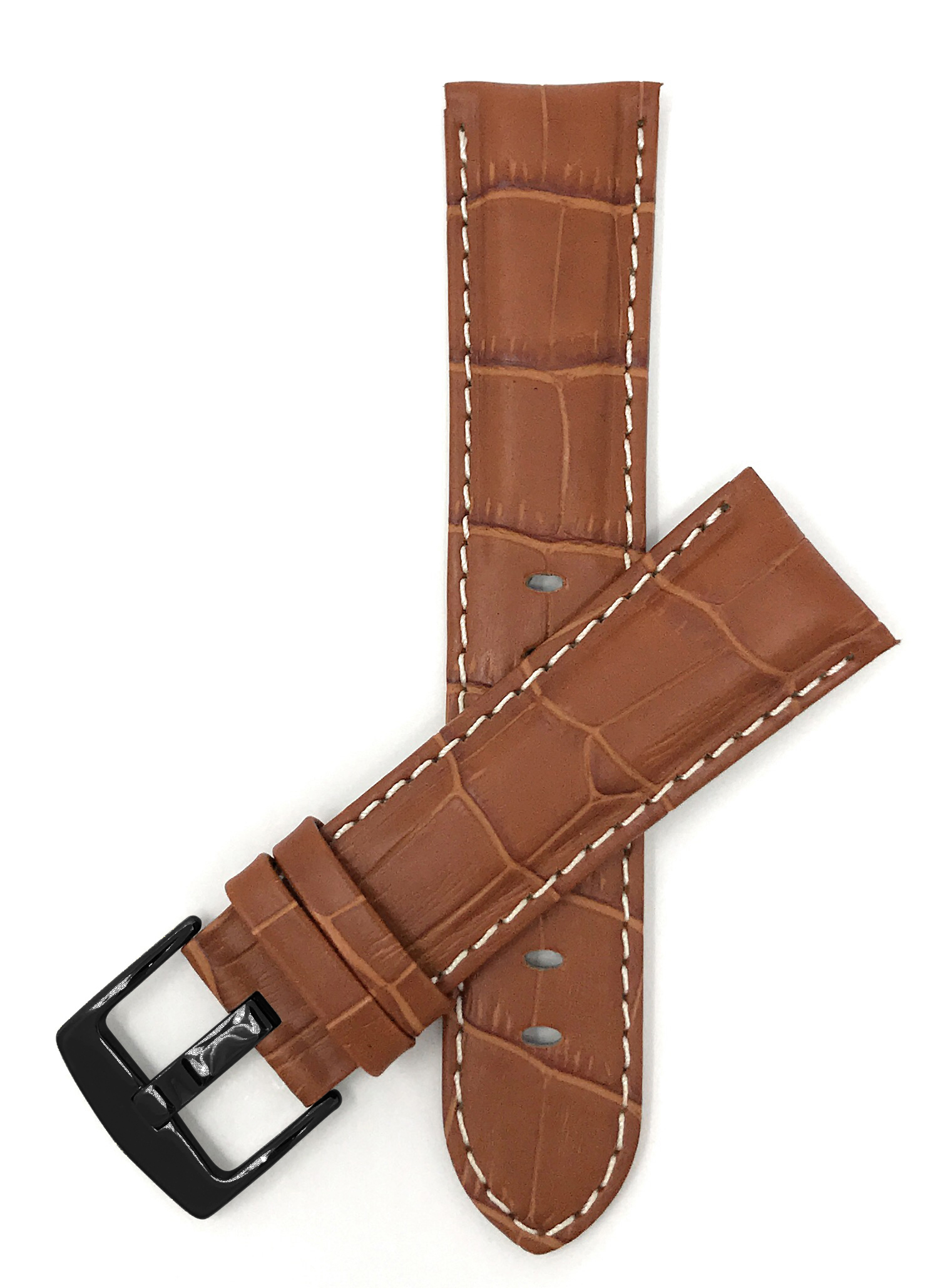 Bandini-Mens-Watch-Band-Alligator-Style-Leather-Strap-18mm-26mm-15-Colors thumbnail 78