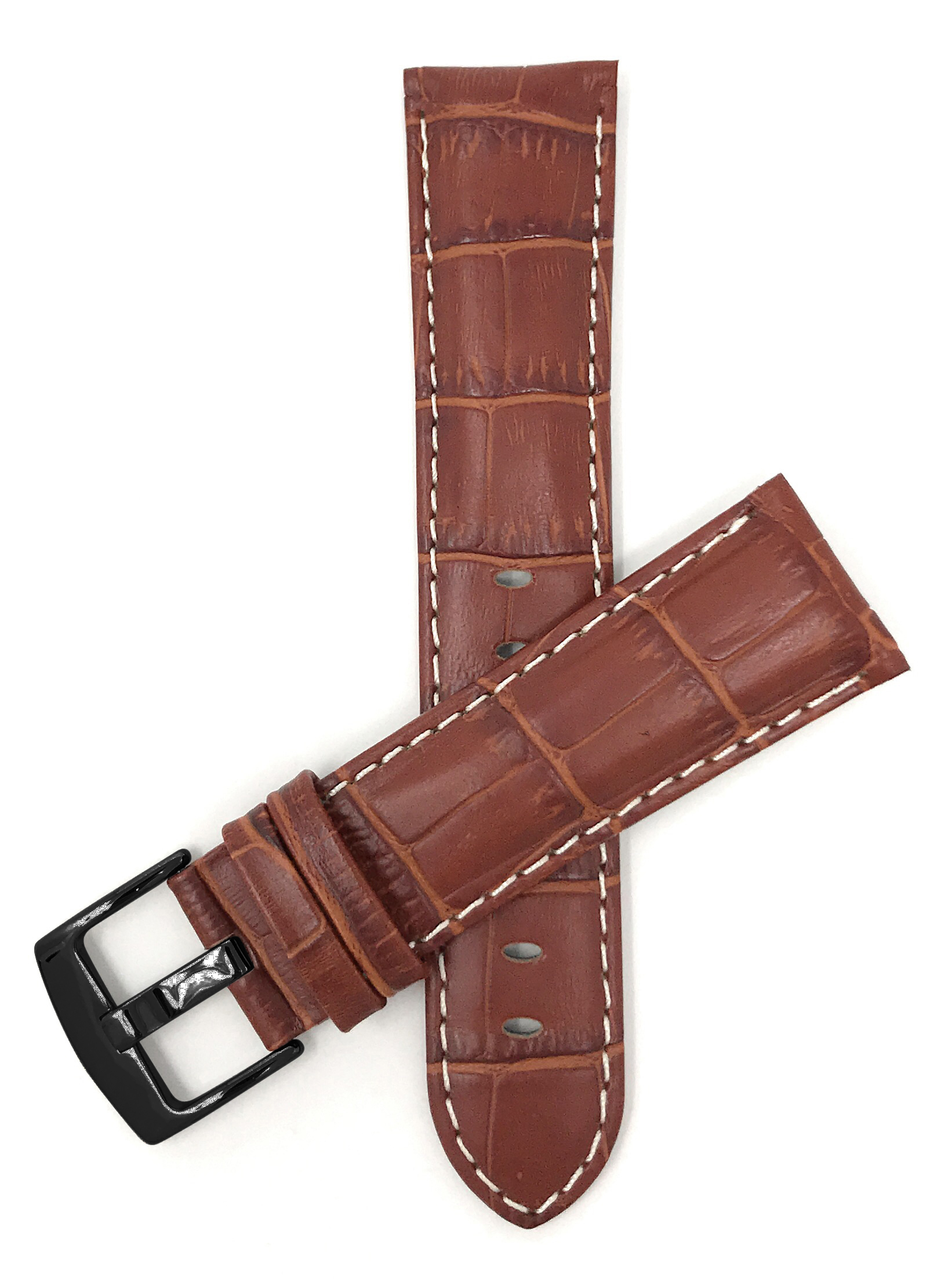 Bandini-Mens-Watch-Band-Alligator-Style-Leather-Strap-18mm-26mm-15-Colors thumbnail 84