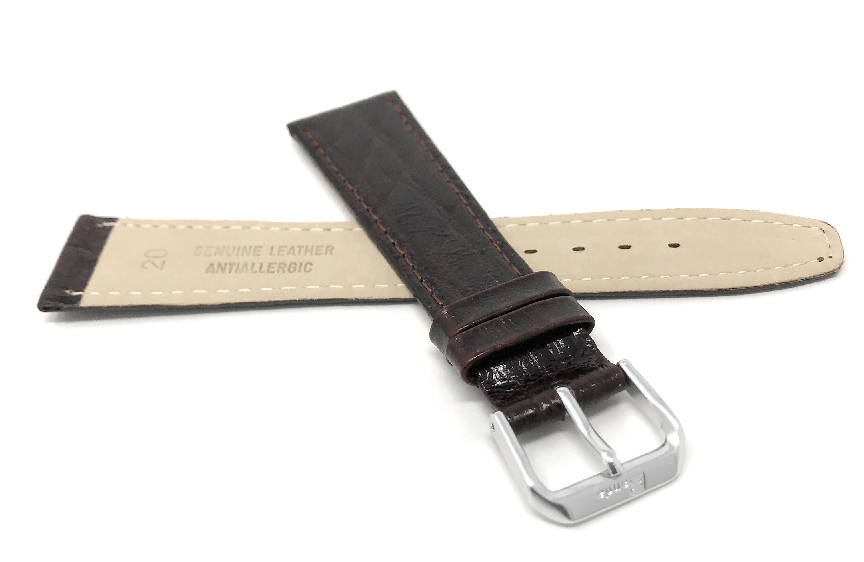 Bandini-Watch-Band-Leather-Strap-Semi-Glossy-10mm-20mm-Extra-Long-Also thumbnail 16