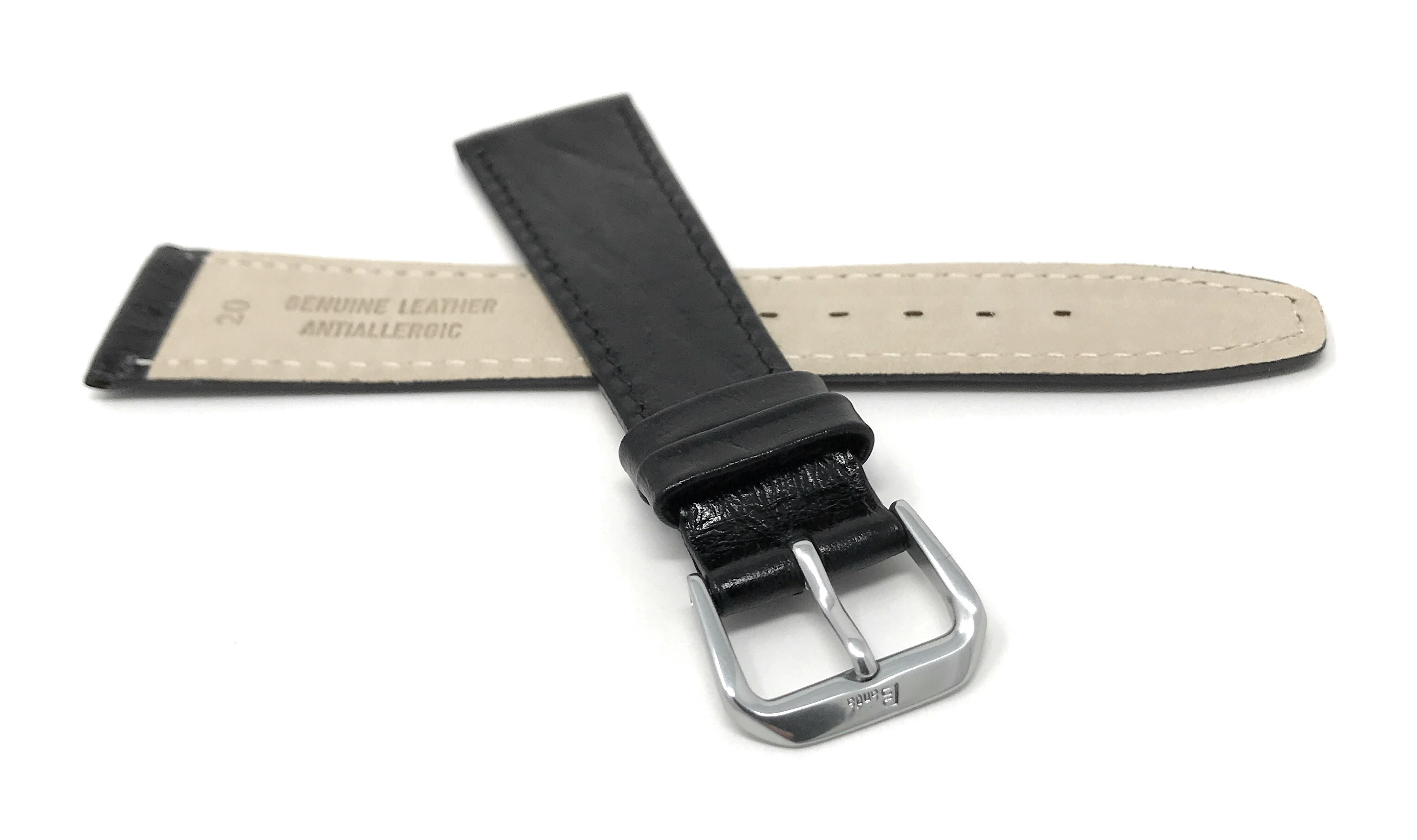 Bandini-Watch-Band-Leather-Strap-Semi-Glossy-10mm-20mm-Extra-Long-Also thumbnail 8