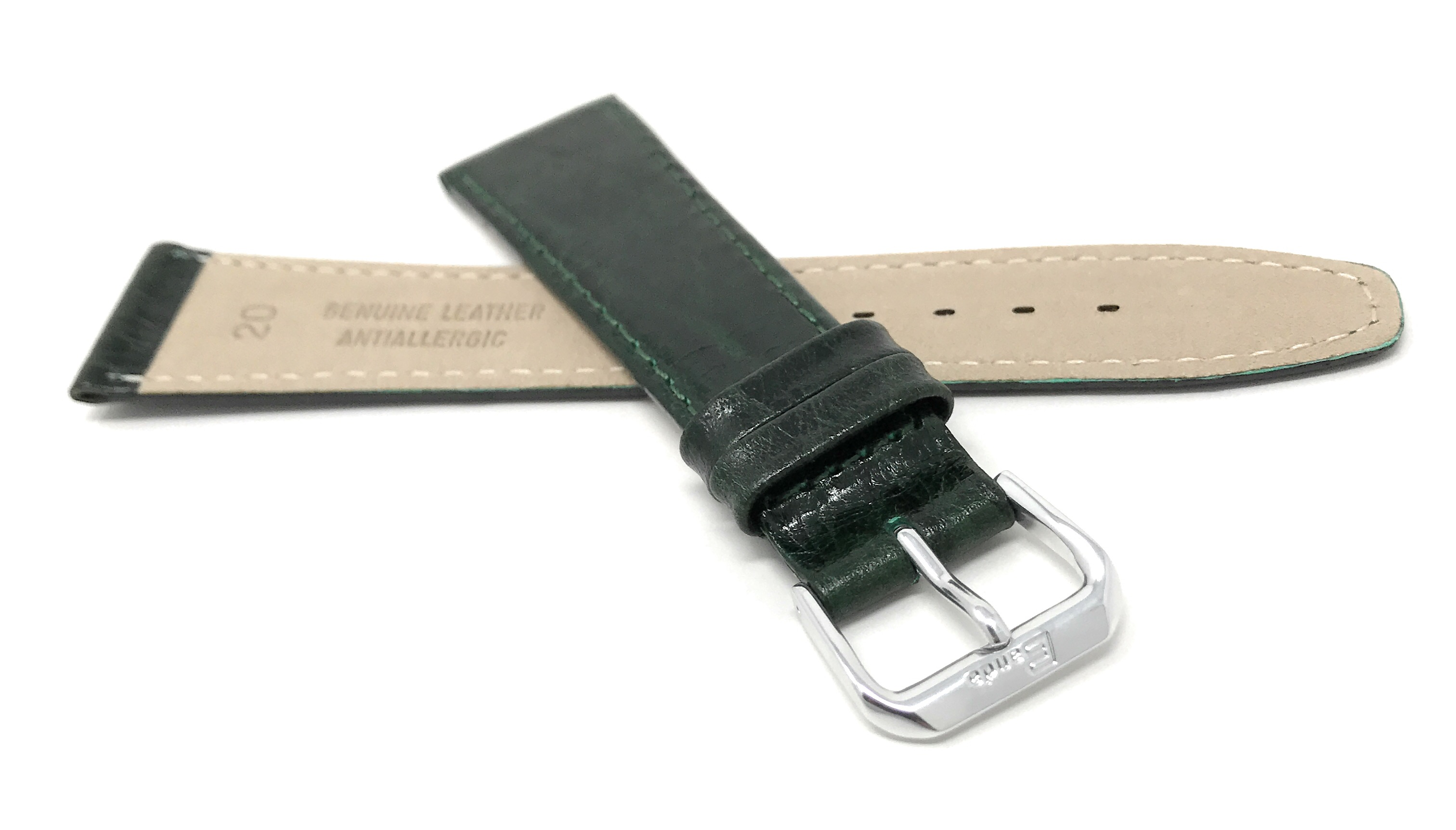 Bandini-Watch-Band-Leather-Strap-Semi-Glossy-10mm-20mm-Extra-Long-Also thumbnail 20