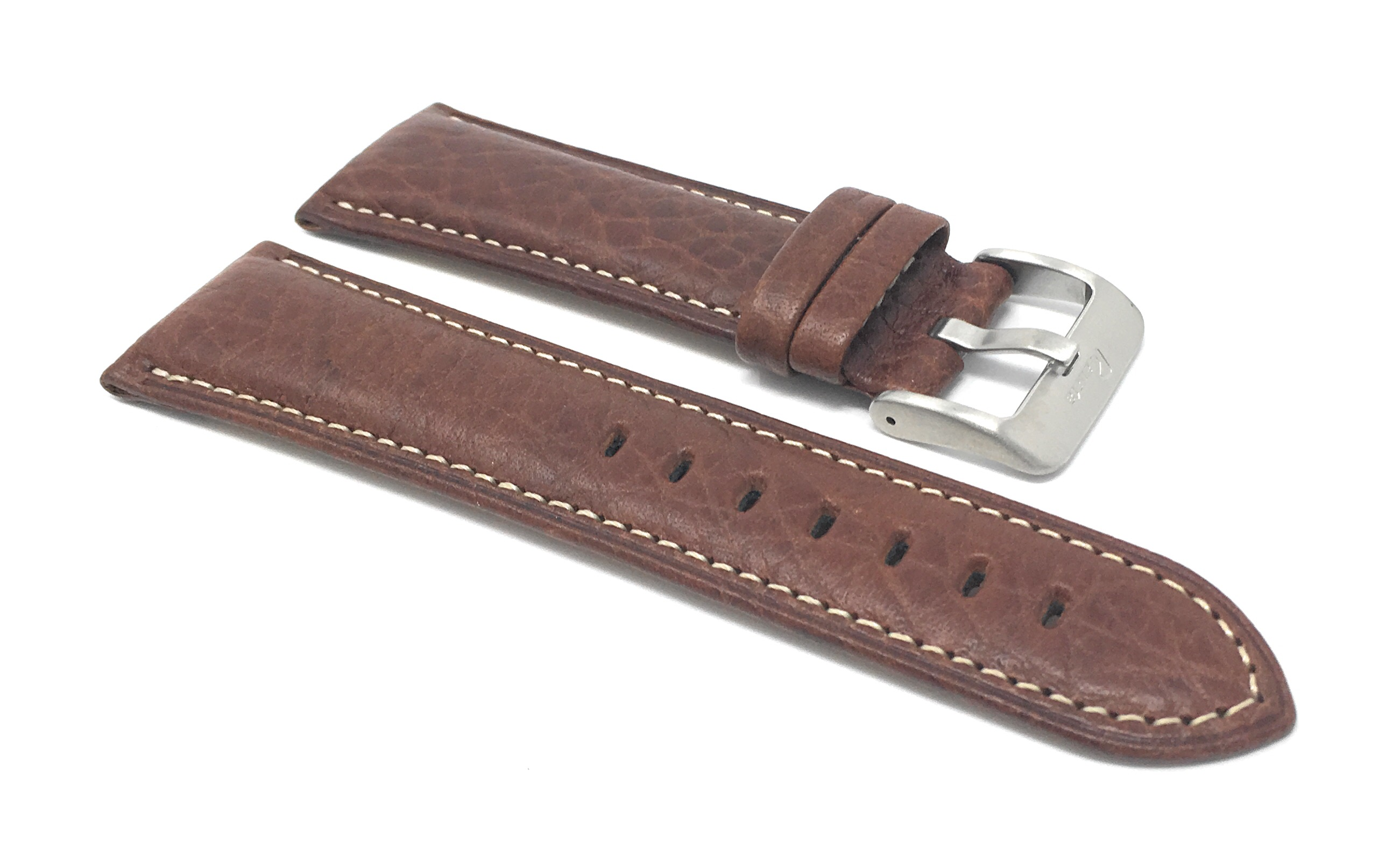 Bandini-Mens-Italian-Leather-Watch-Band-Strap-Padded-Stitch-18mm-19mm-20mm-24mm thumbnail 19