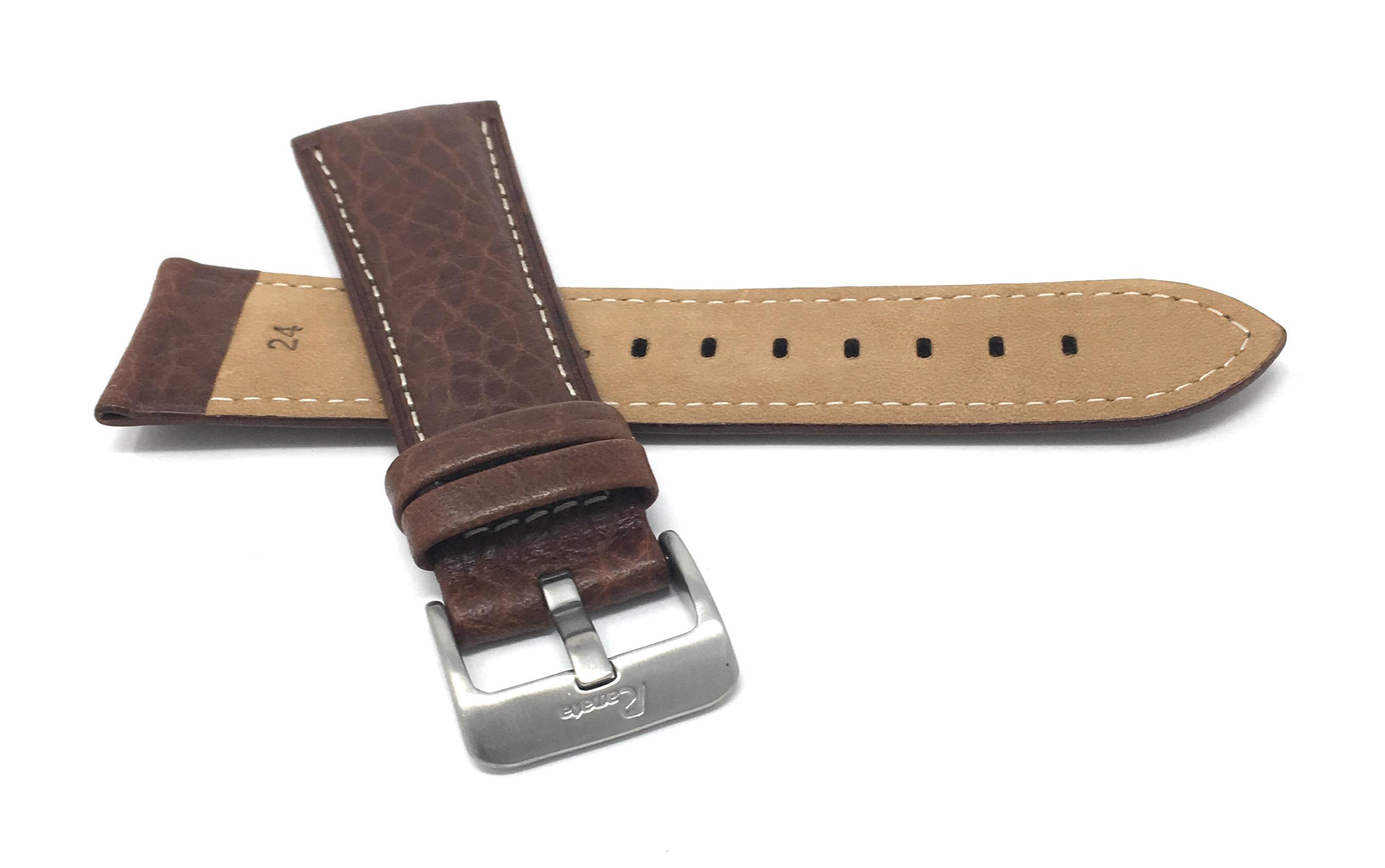 Bandini-Mens-Italian-Leather-Watch-Band-Strap-Padded-Stitch-18mm-19mm-20mm-24mm thumbnail 20