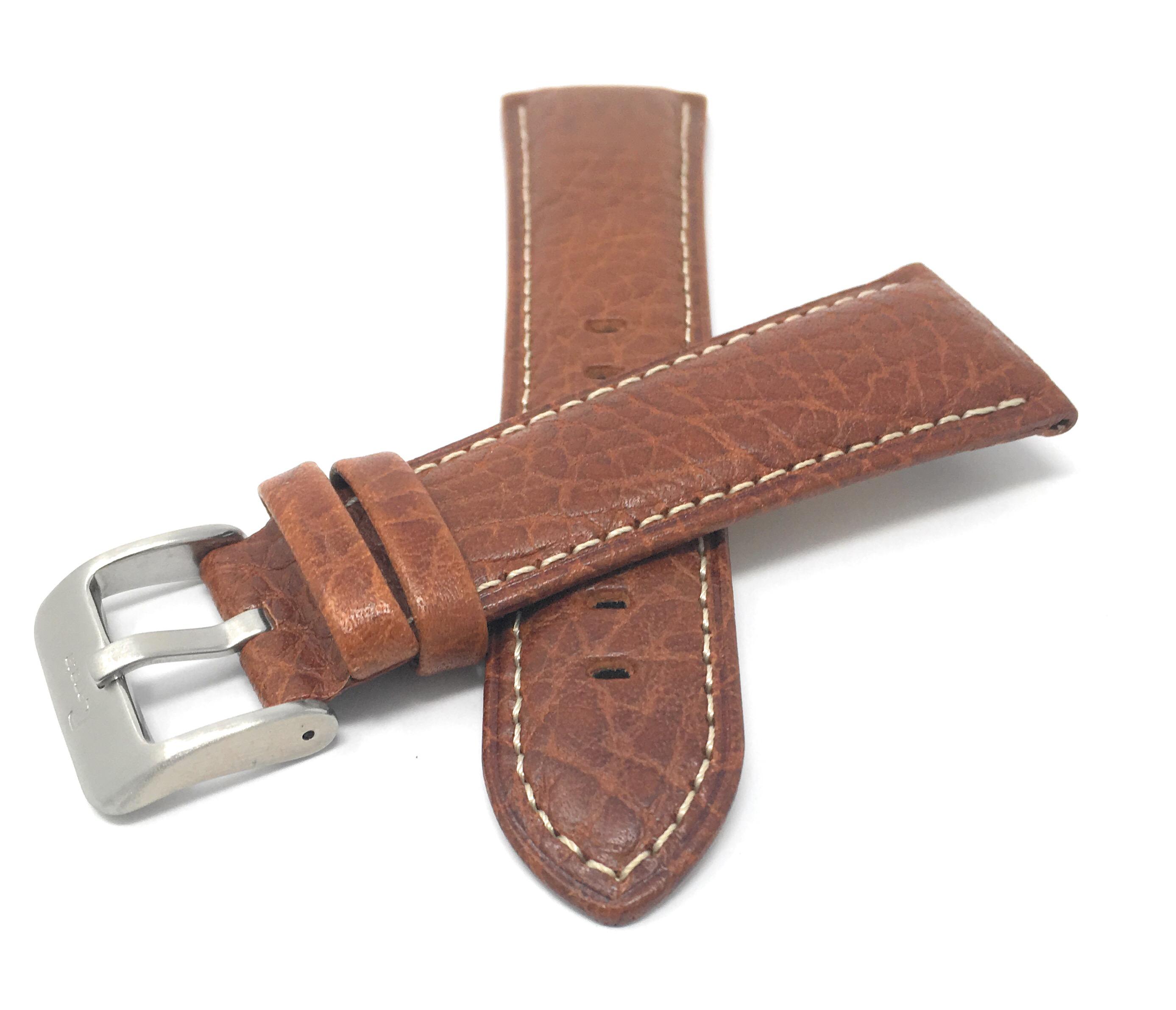 Bandini-Mens-Italian-Leather-Watch-Band-Strap-Padded-Stitch-18mm-19mm-20mm-24mm thumbnail 6