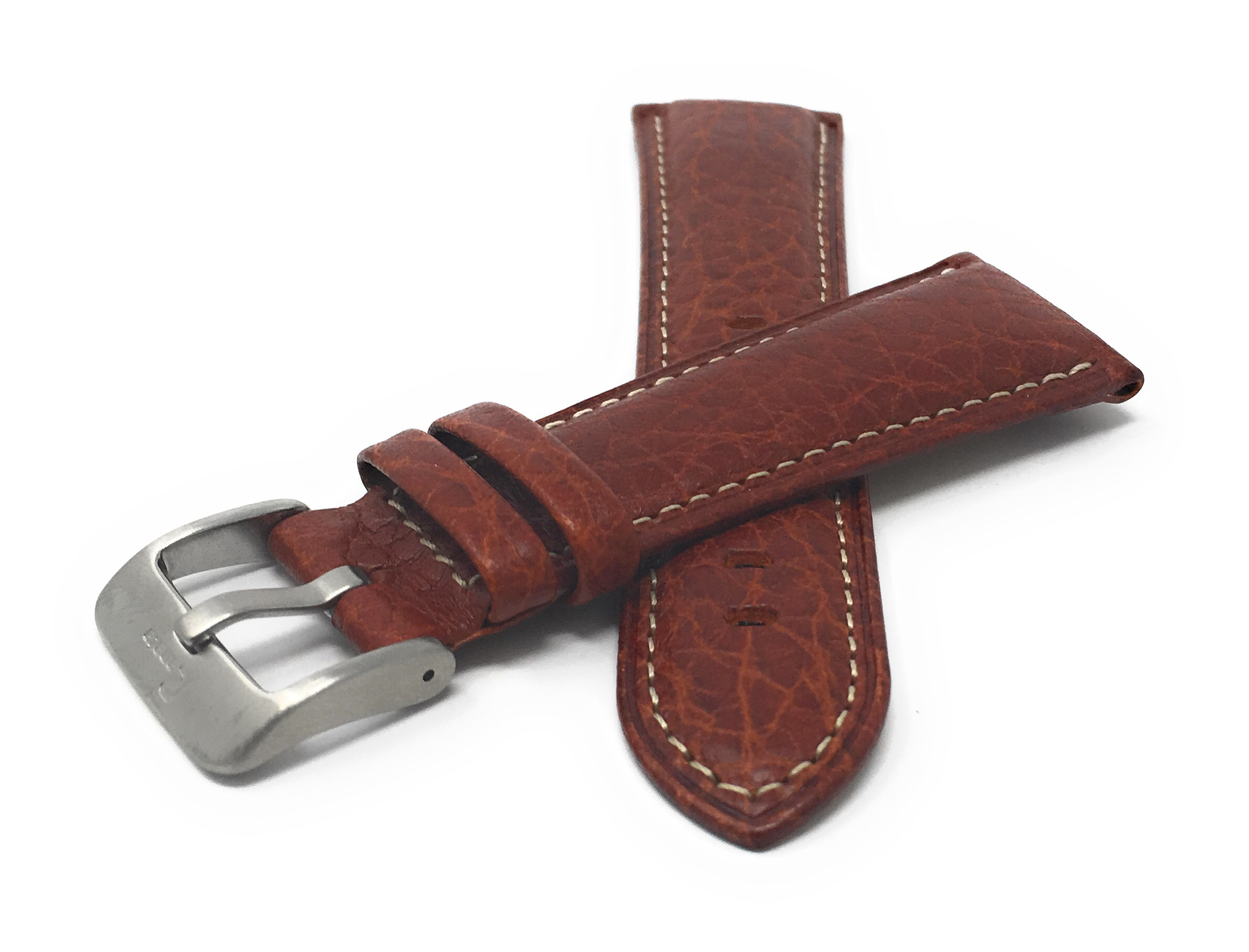 Bandini-Mens-Italian-Leather-Watch-Band-Strap-Padded-Stitch-18mm-19mm-20mm-24mm thumbnail 10