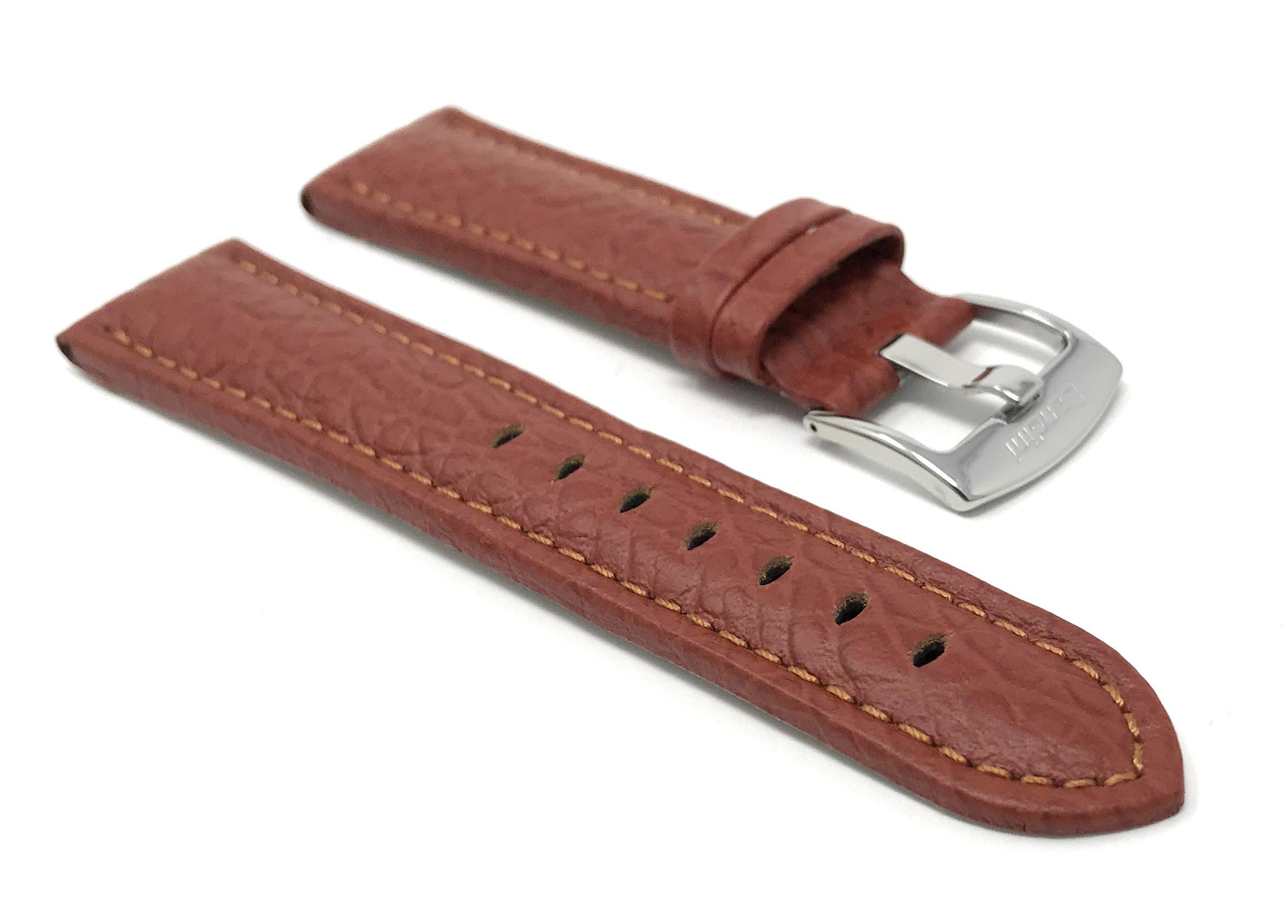 Bandini-Watch-Band-Leather-Strap-Buffalo-Pattern-18mm-30mm-Extra-Long-Also thumbnail 15