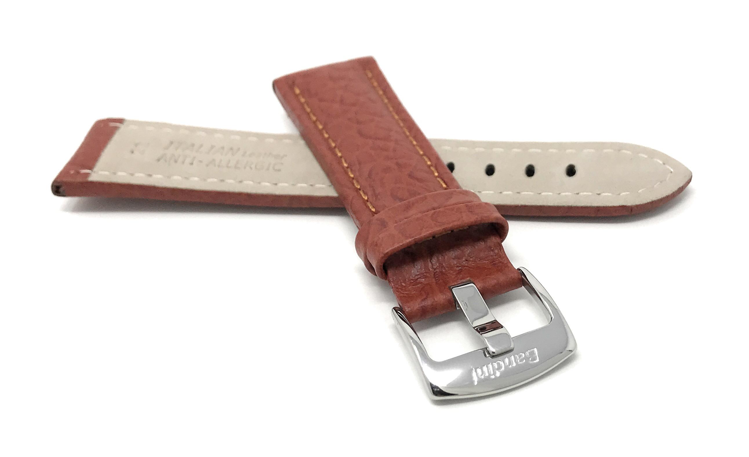 Bandini-Watch-Band-Leather-Strap-Buffalo-Pattern-18mm-30mm-Extra-Long-Also thumbnail 16