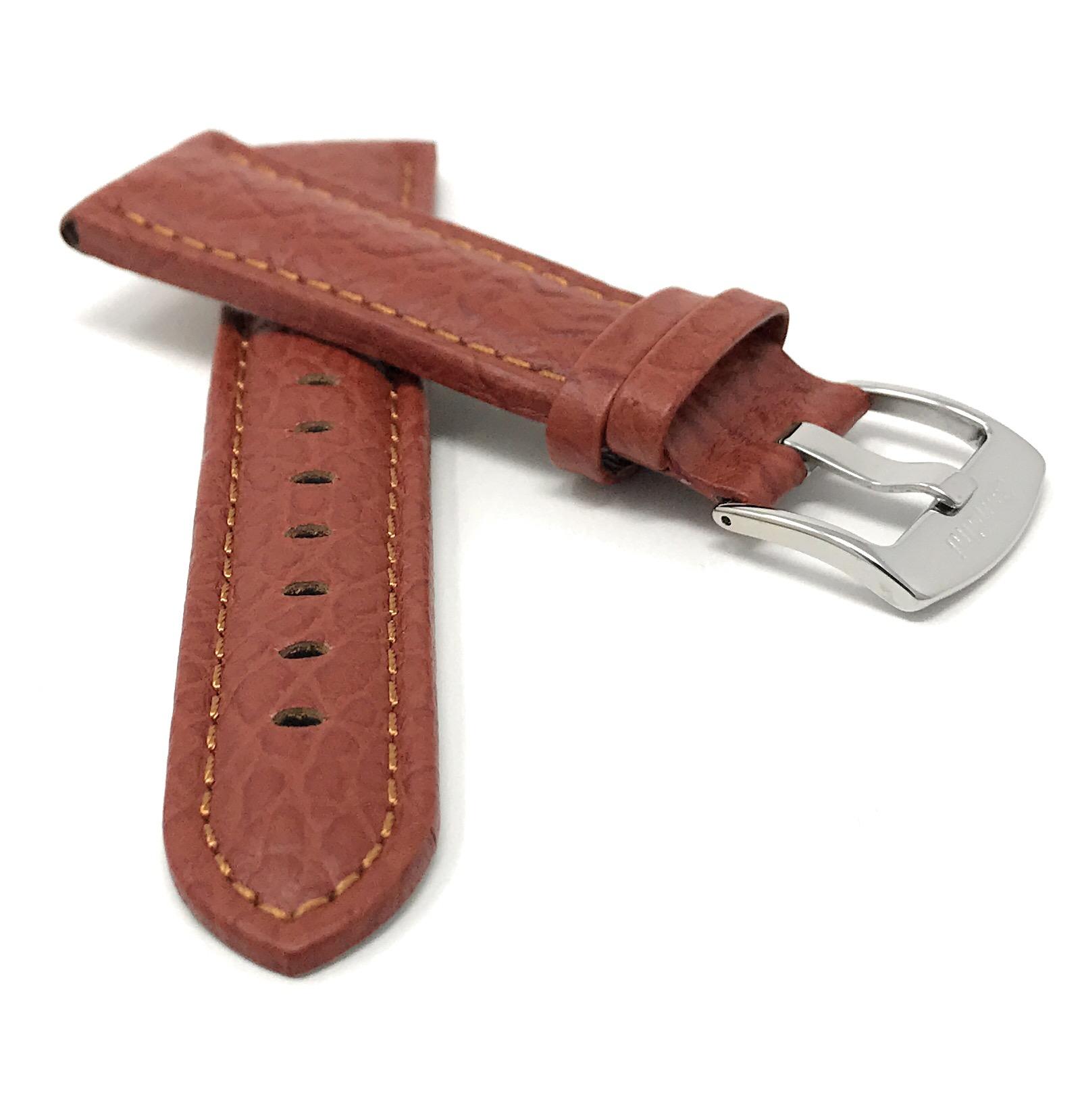 Bandini-Watch-Band-Leather-Strap-Buffalo-Pattern-18mm-30mm-Extra-Long-Also thumbnail 14