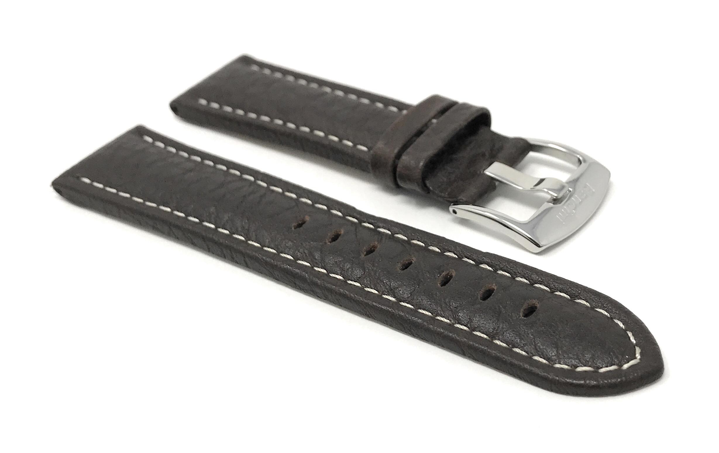 Bandini-Watch-Band-Leather-Strap-Buffalo-Pattern-18mm-30mm-Extra-Long-Also thumbnail 27