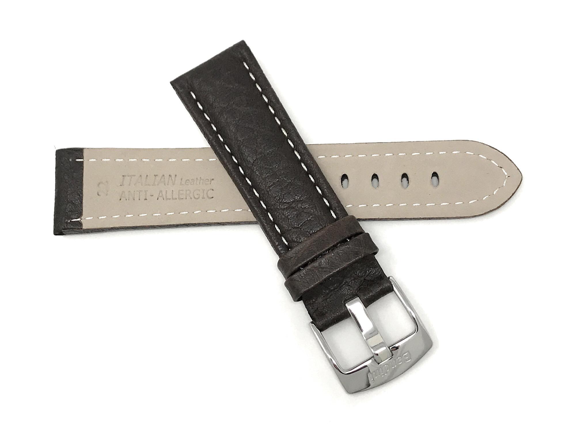 Bandini-Watch-Band-Leather-Strap-Buffalo-Pattern-18mm-30mm-Extra-Long-Also thumbnail 28