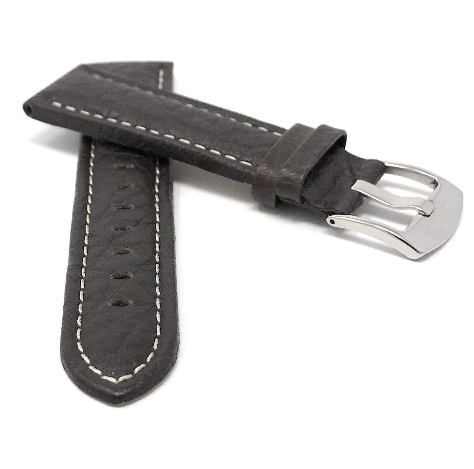 Bandini-Watch-Band-Leather-Strap-Buffalo-Pattern-18mm-30mm-Extra-Long-Also thumbnail 26