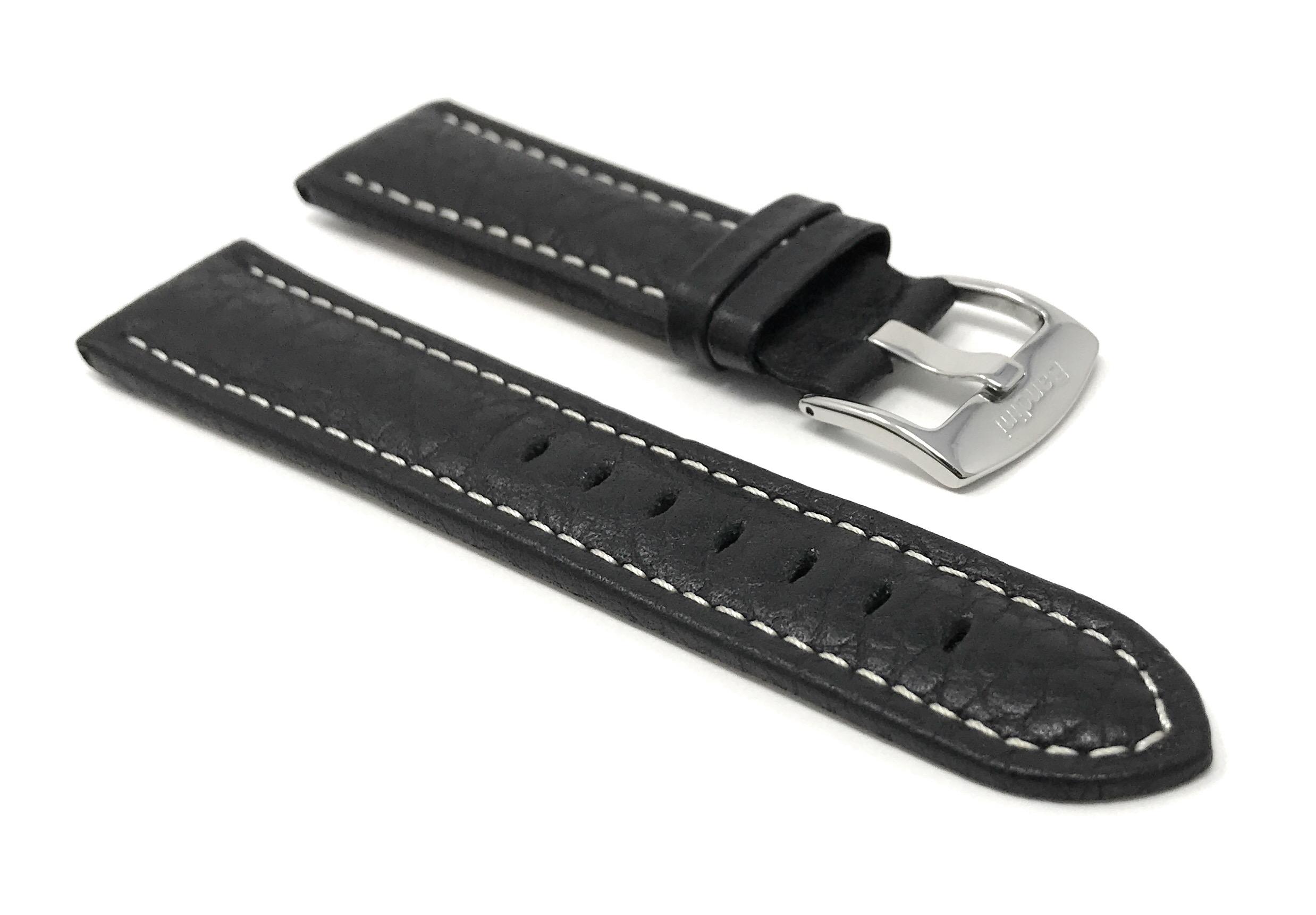 Bandini-Watch-Band-Leather-Strap-Buffalo-Pattern-18mm-30mm-Extra-Long-Also thumbnail 11