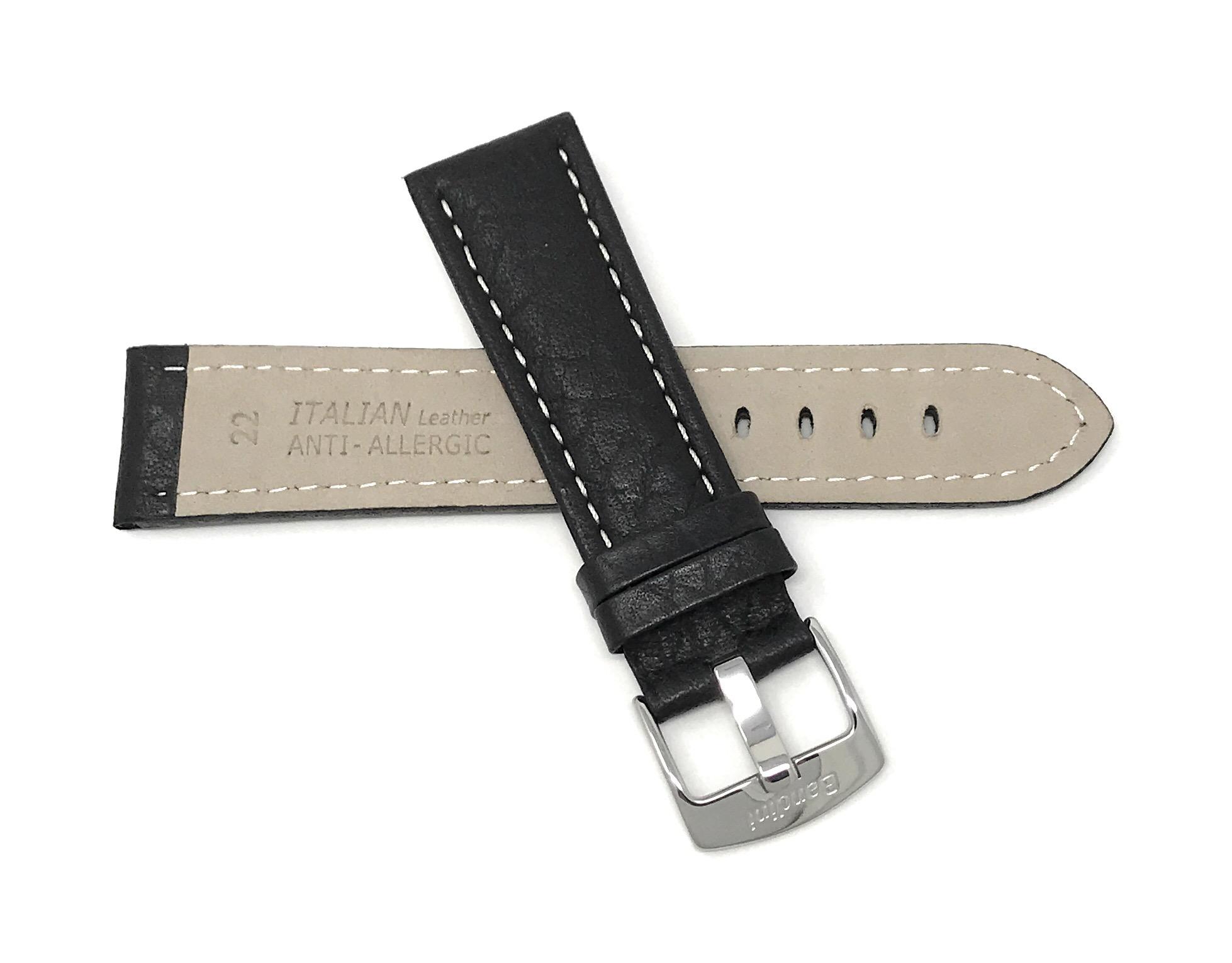 Bandini-Watch-Band-Leather-Strap-Buffalo-Pattern-18mm-30mm-Extra-Long-Also thumbnail 12