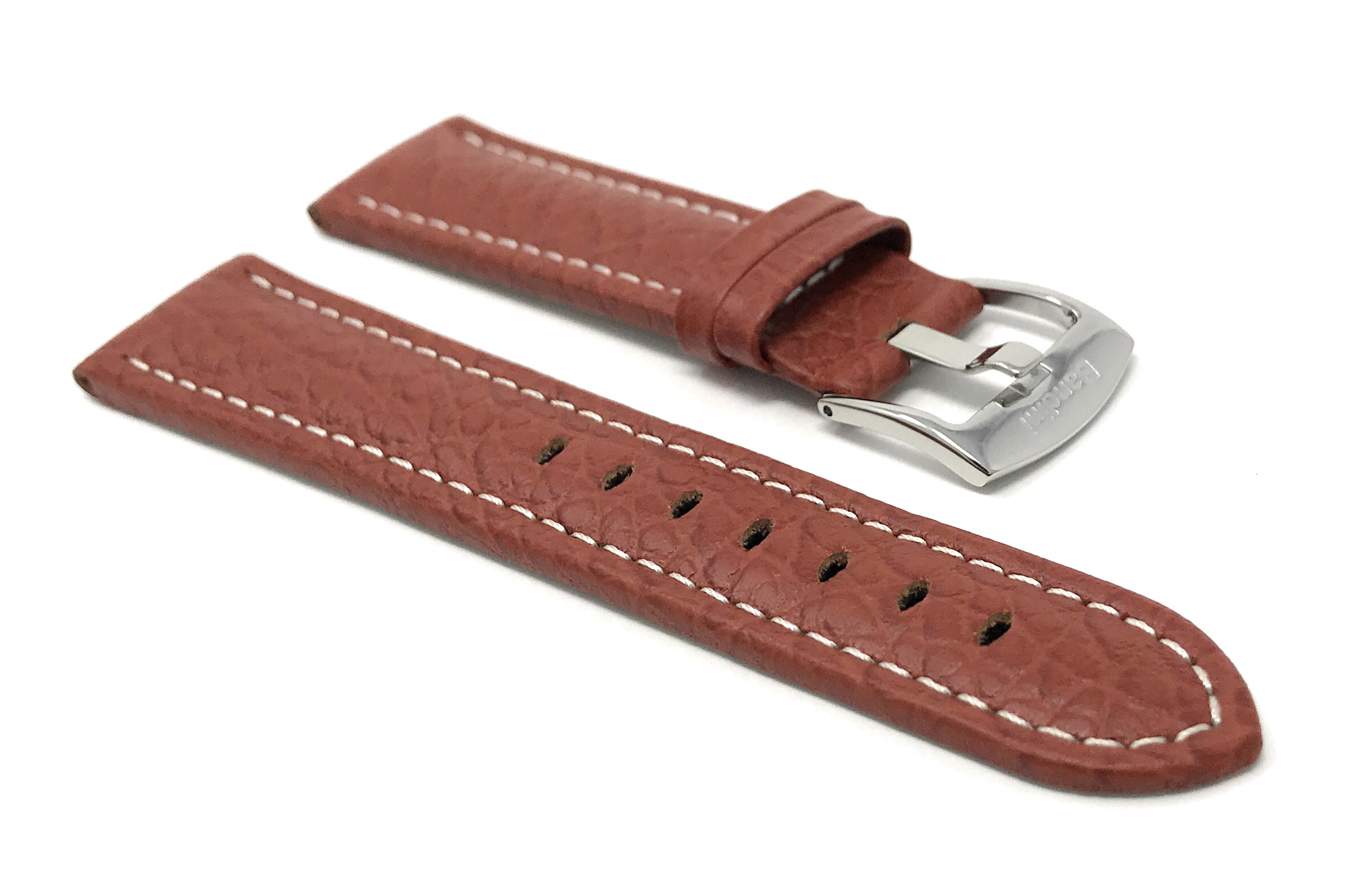 Bandini-Watch-Band-Leather-Strap-Buffalo-Pattern-18mm-30mm-Extra-Long-Also thumbnail 23