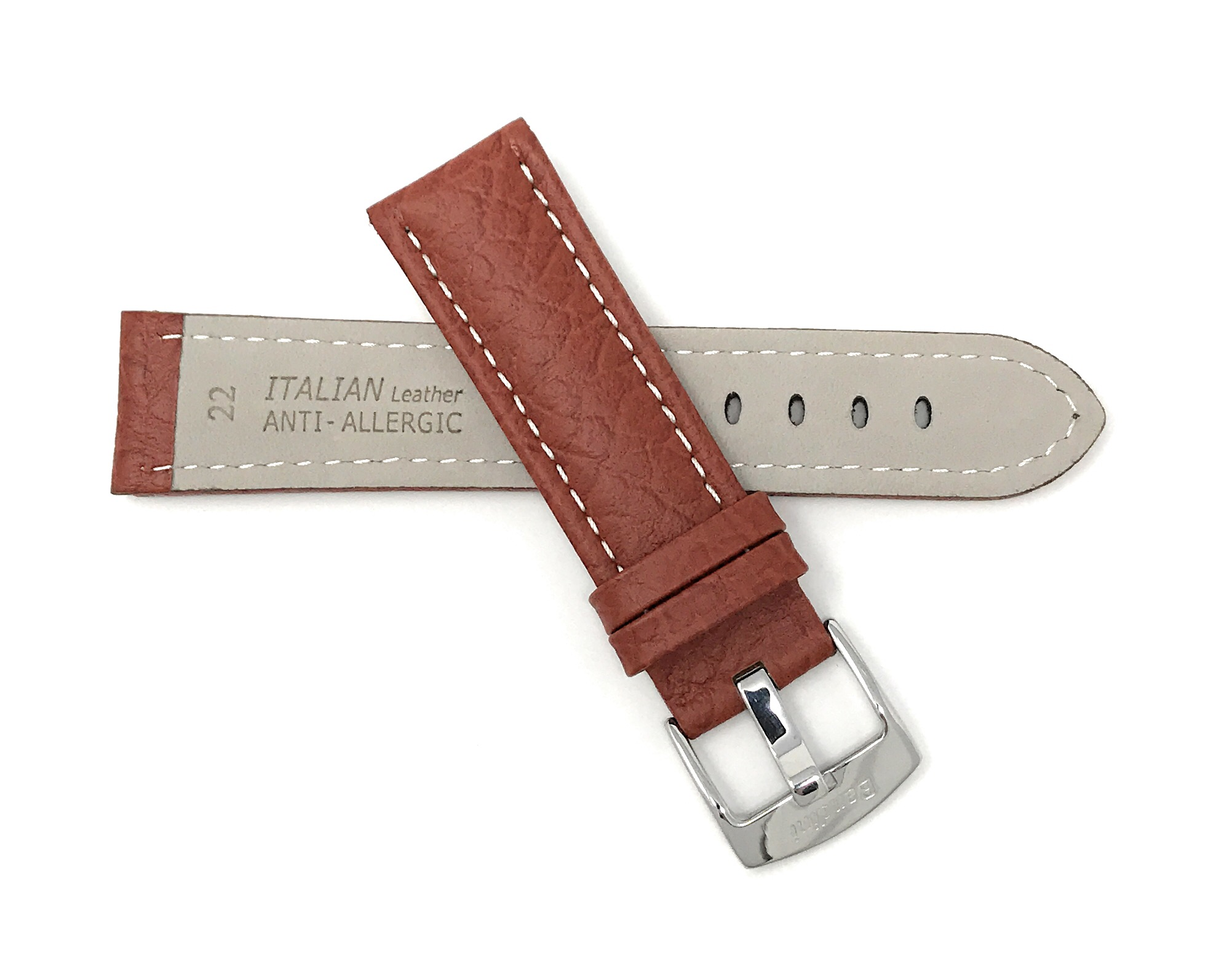 Bandini-Watch-Band-Leather-Strap-Buffalo-Pattern-18mm-30mm-Extra-Long-Also thumbnail 24