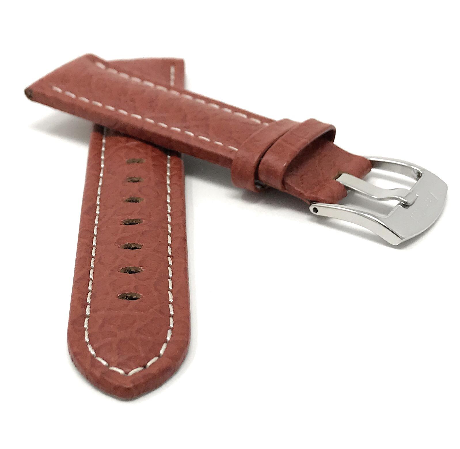 Bandini-Watch-Band-Leather-Strap-Buffalo-Pattern-18mm-30mm-Extra-Long-Also thumbnail 22
