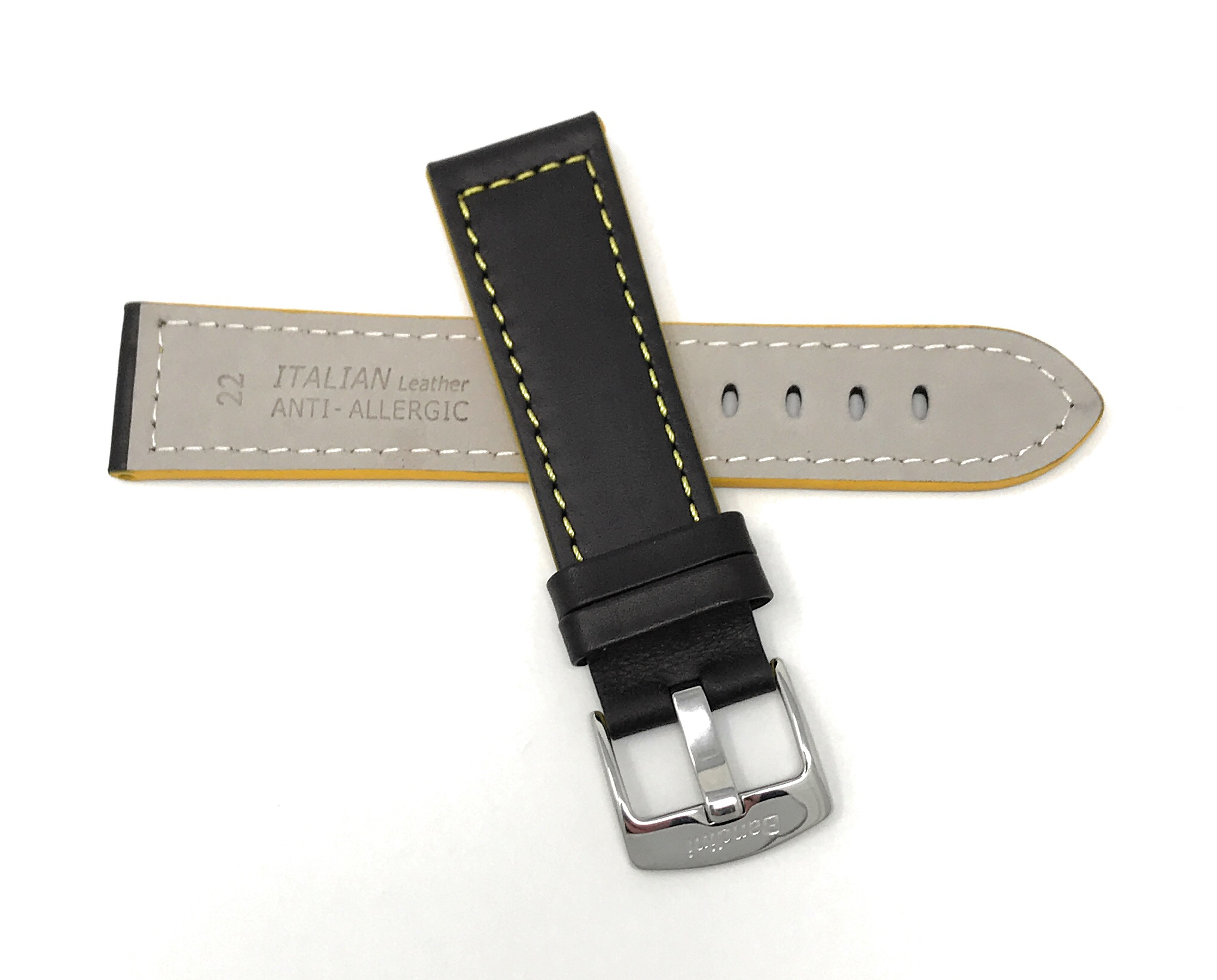 Bandini-Leather-Watch-Band-Racer-Strap-5-Colors-18-20-22-24mm-Extra-Long-Too thumbnail 16
