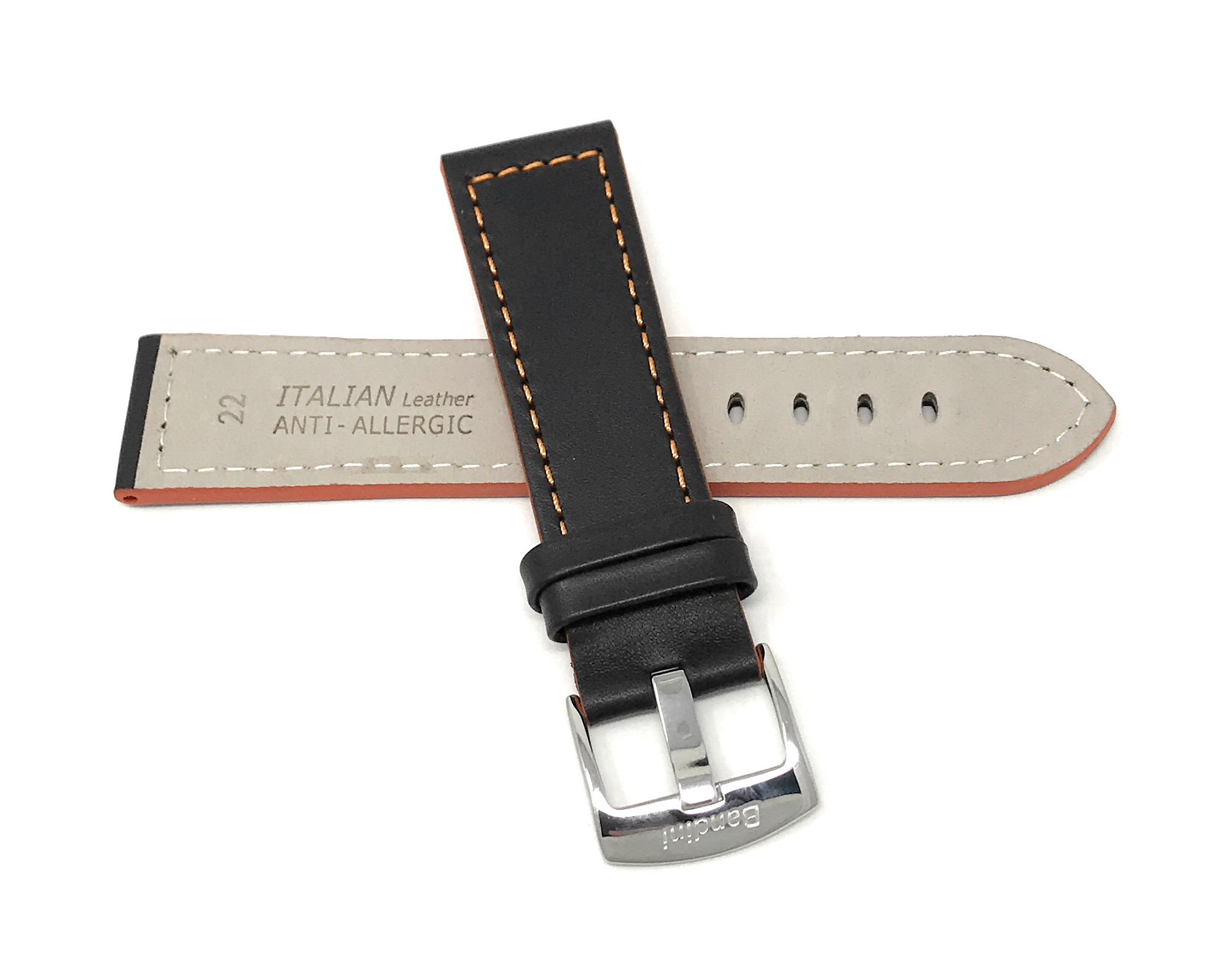 Bandini-Leather-Watch-Band-Racer-Strap-5-Colors-18-20-22-24mm-Extra-Long-Too thumbnail 20