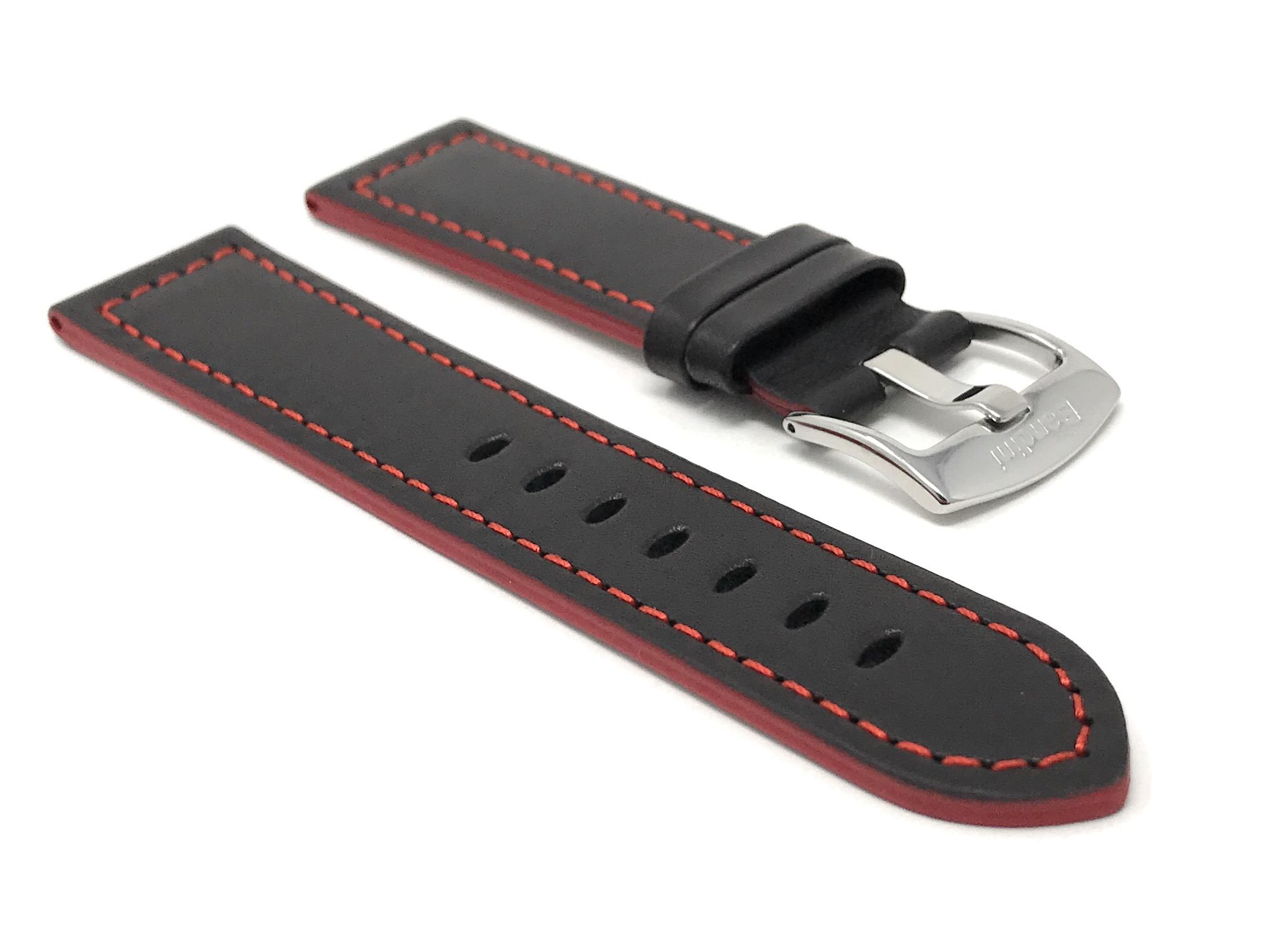 Bandini-Leather-Watch-Band-Racer-Strap-5-Colors-18-20-22-24mm-Extra-Long-Too thumbnail 23