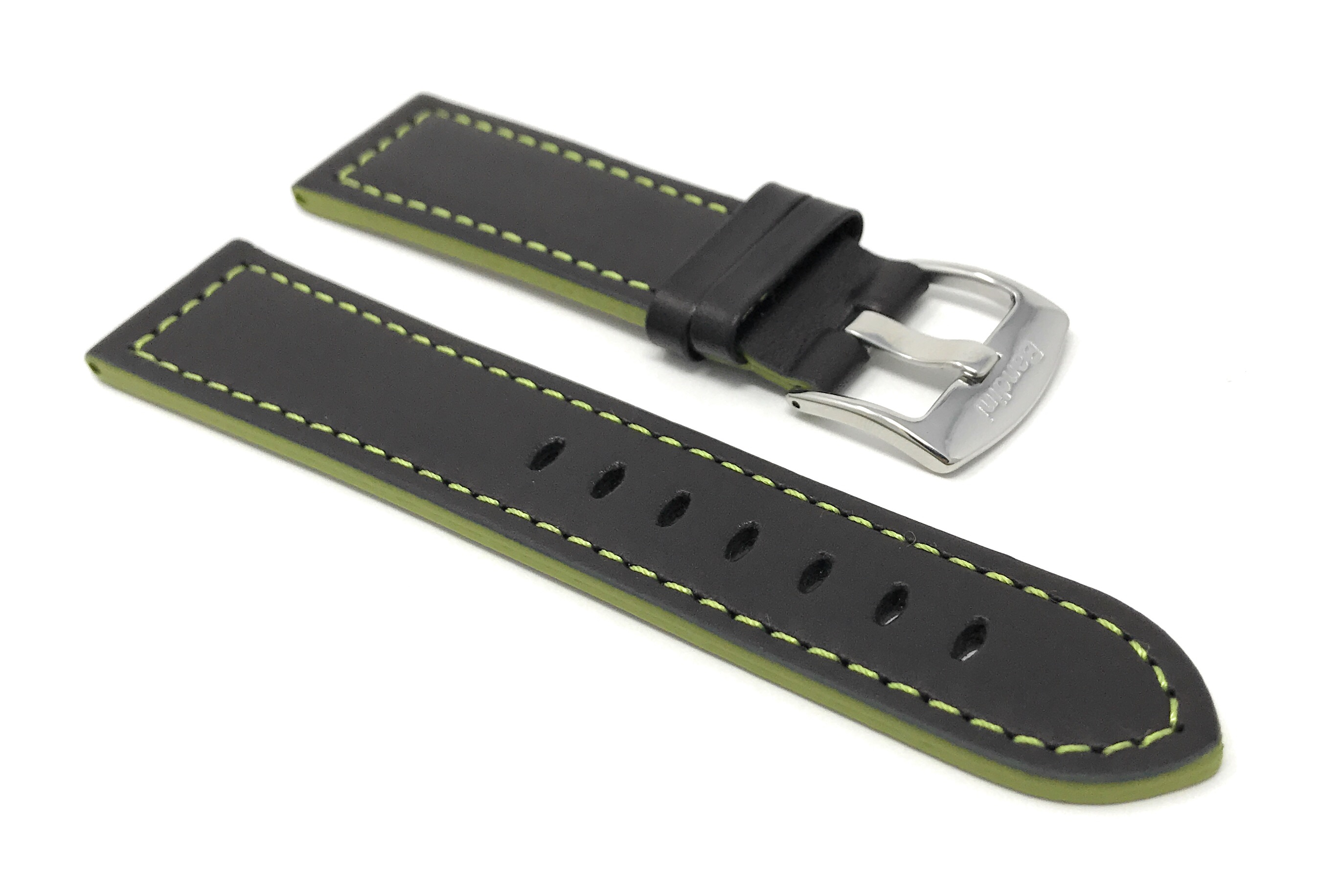 Bandini-Leather-Watch-Band-Racer-Strap-5-Colors-18-20-22-24mm-Extra-Long-Too thumbnail 27
