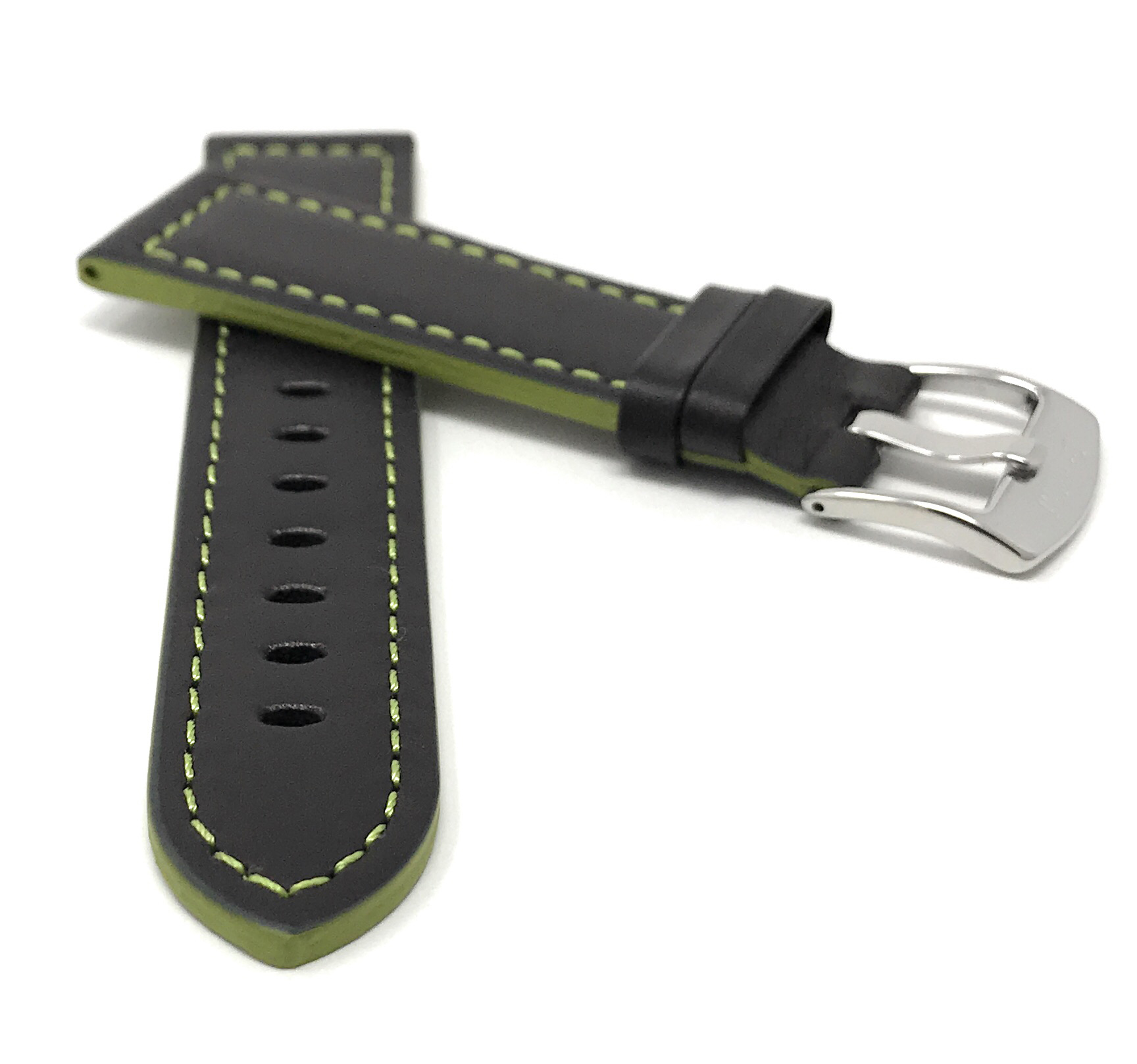 Bandini-Leather-Watch-Band-Racer-Strap-5-Colors-18-20-22-24mm-Extra-Long-Too thumbnail 26