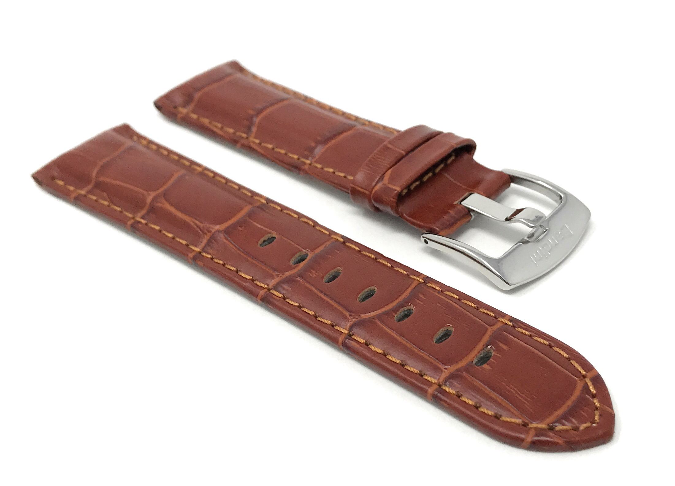Bandini-Mens-Watch-Band-Alligator-Style-Leather-Strap-18mm-26mm-15-Colors thumbnail 51