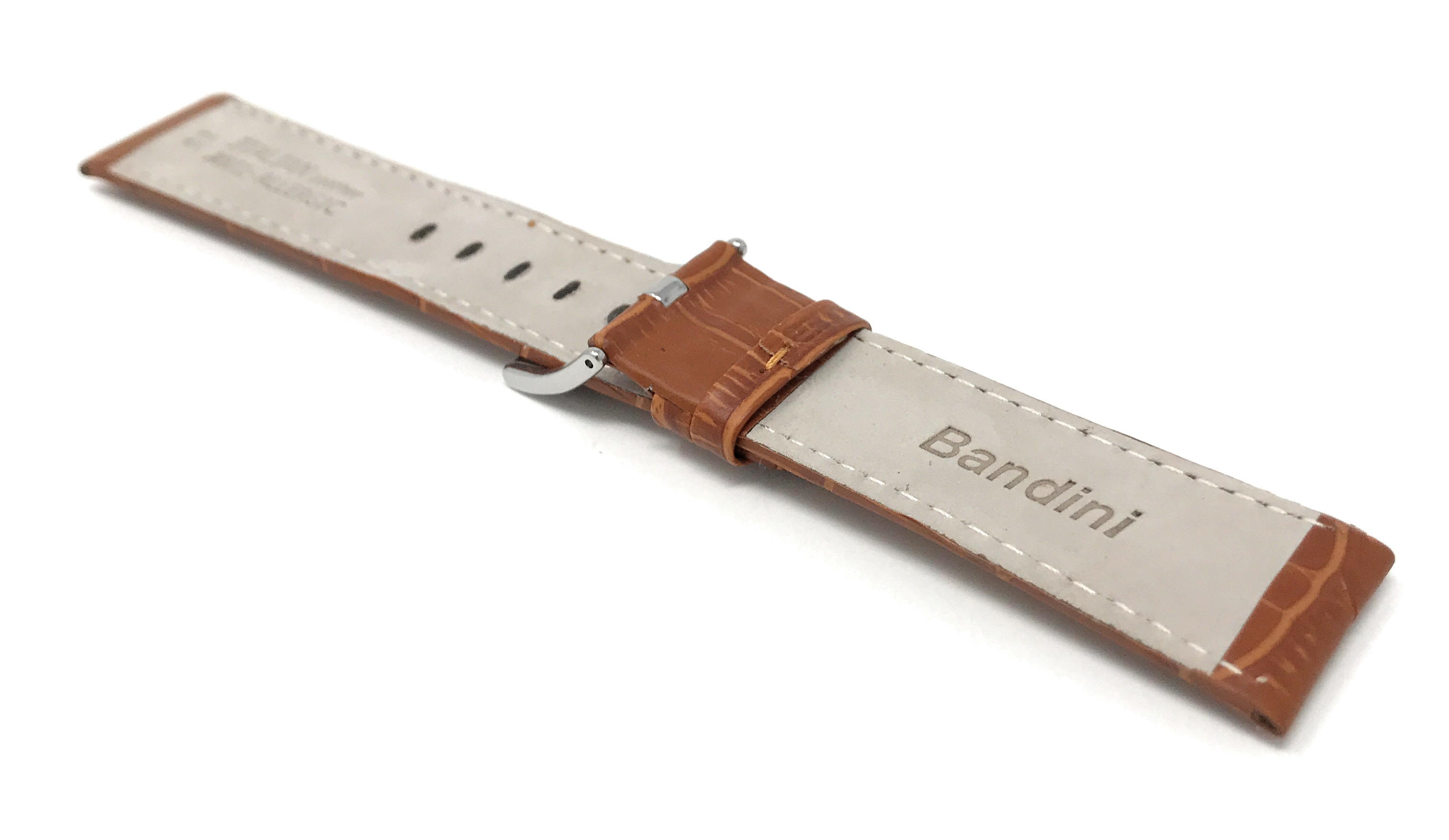 Bandini-Mens-Watch-Band-Alligator-Style-Leather-Strap-18mm-26mm-15-Colors thumbnail 46