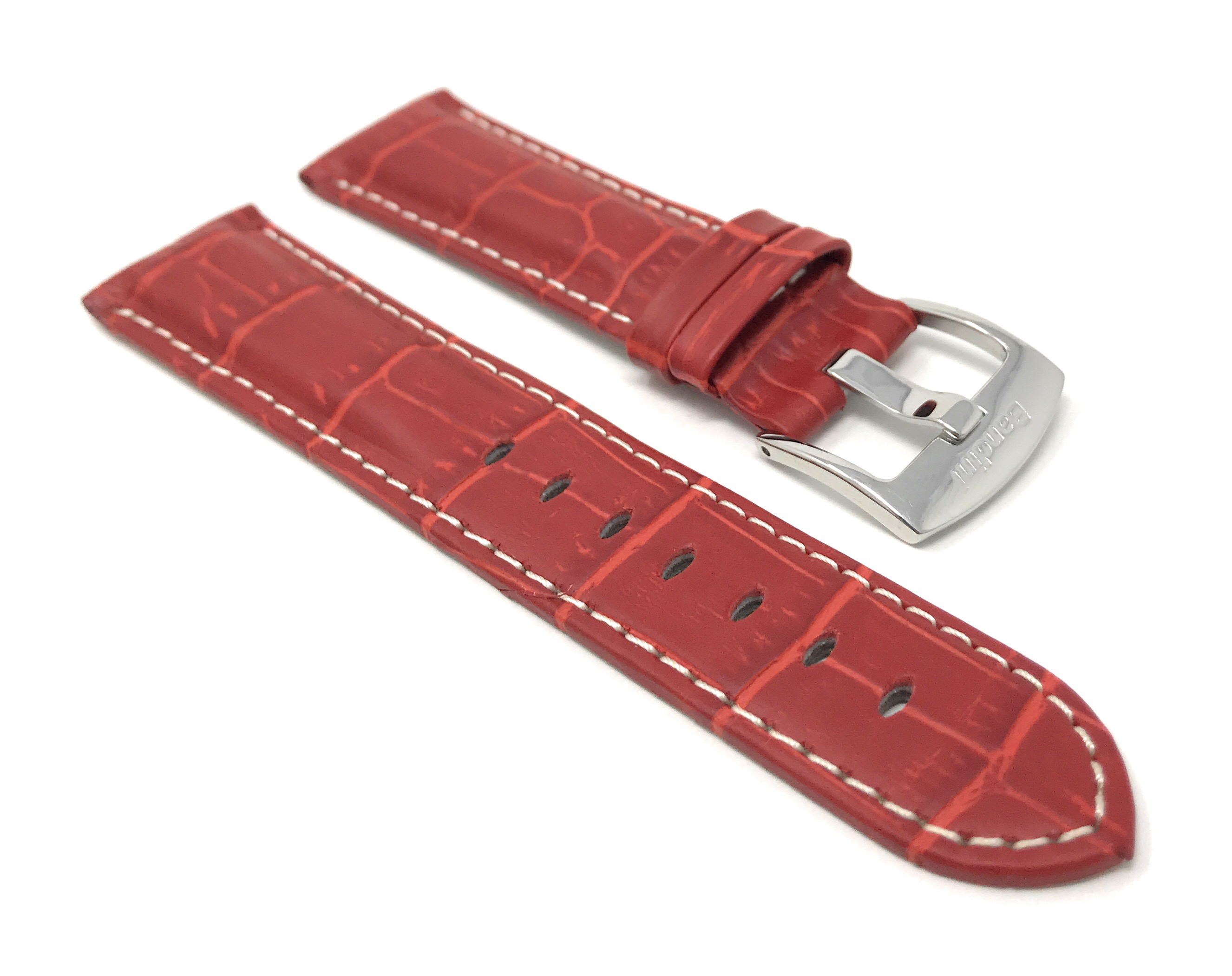 Bandini-Mens-Watch-Band-Alligator-Style-Leather-Strap-18mm-26mm-15-Colors thumbnail 75