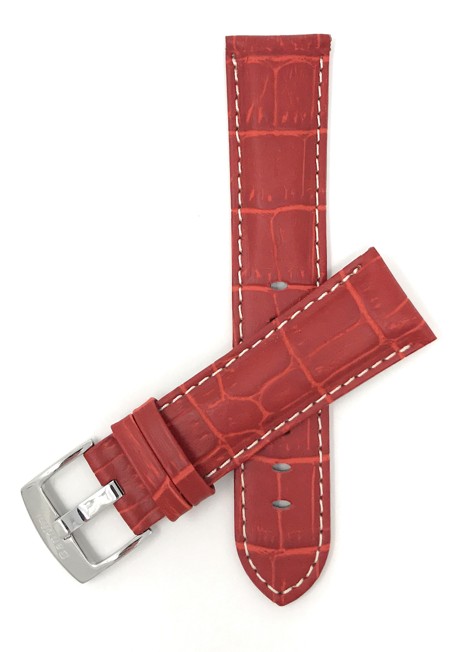 Bandini-Mens-Watch-Band-Alligator-Style-Leather-Strap-18mm-26mm-15-Colors thumbnail 71