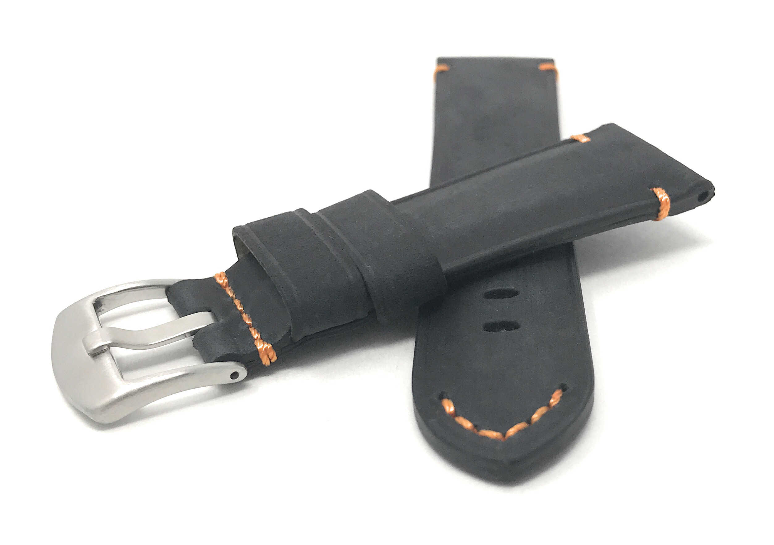 Bandini-Distressed-Leather-Watch-Band-Strap-Black-Brown-Tan-20mm-22mm-24mm thumbnail 22