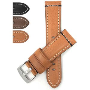 Bandini 820s | Mens Leather Watch Strap, Double Stitch