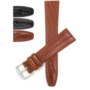 Bandini 109 | Thin Leather Watch Band, Bark Pattern