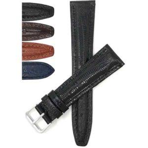 Bandini 208 | Leather Watch Band, Lizard Pattern, Glossy