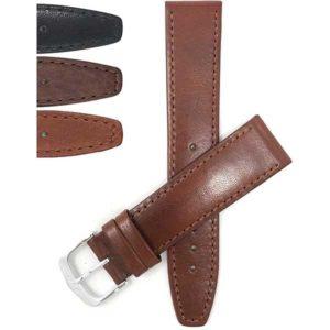 Bandini 300 | Classic Flat Leather Watch Band, Stitch, Standard, Extra Long (XL)