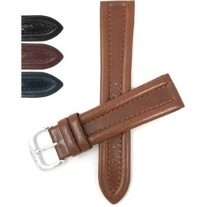 Bandini 410 | Leather Watch Strap, Glossy, Side Padded, Pointed Tip