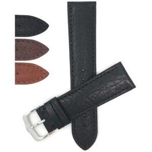 Bandini 422 | Mens Leather Watch Strap, Buffalo Pattern, Semi-Padded