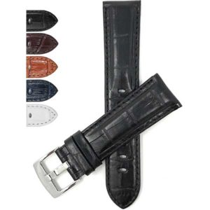 Bandini 508 | Mens Leather Watch Band, Alligator Pattern, Extra Long XL Available