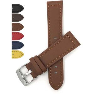 Bandini 516 | Thick Mens Leather Watch Strap, Racer Style