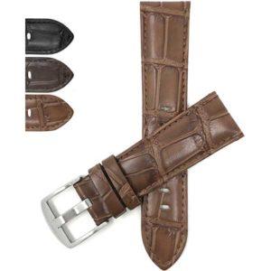 Bandini 517   Mens Leather Watch Band, Crocodile Pattern