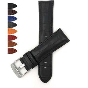 Bandini 518   Mens Leather Strap, Alligator Pattern, Many Colors
