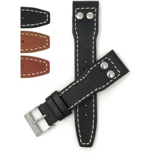 Bandini 604 | Mens Leather Watch Strap with Rivets for IWC Big Pilot & TW Steel