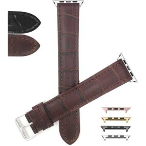 Bandini Tripe Extra Long Alligator Style Leather Watch Band for Apple Watch Series 6/5/4/3/2/1