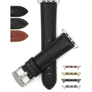 Bandini Buffalo Pattern Leather Watch Band for Apple Watch Series 6/5/4/3/2/1, Standard & Extra Long (XL)