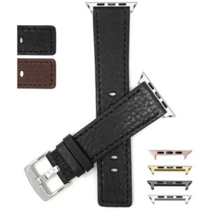 Bandini Square Tip Leather Watch Strap for Apple Watch Series 6/5/4/3/2/1