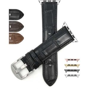Bandini Croco Style Leather Watch Band for Apple Watch Series 6/5/4/3/2/1