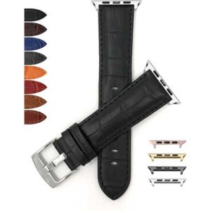 Bandini Alligator Style Leather Watch Band for Apple Watch Series 6/5/4/3/2/1