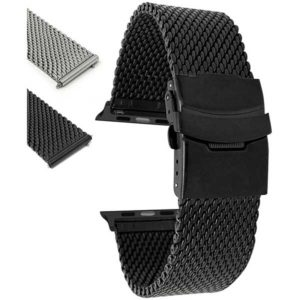 Bandini Extra Long (XL) Mesh Deployment Band for Apple Watch 38mm/40mm, Series 6/5/4/3/2/1